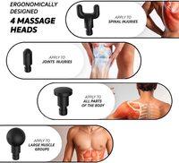 Electric Muscle Massage Gun - Silver