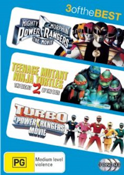 Mighty Morphin Power Rangers / Teenage Mutant Ninja Turtles 2 / Turbo Power Rangers Movie - 3 Of The Best (3 Disc Set) on DVD