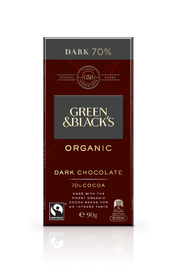 Green & Black's Organic Dark Chocolate 70% Cocoa (90g)