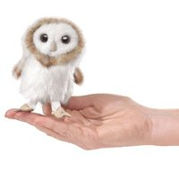 Folkmanis Mini Finger Puppet - Barn Owl