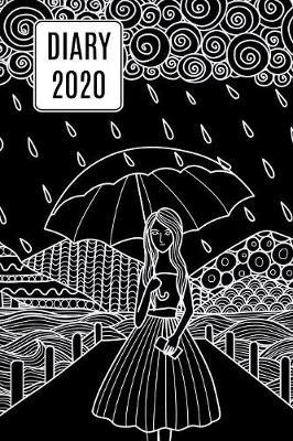 2020 Daily Diary Journal, Girl & Umbrella by Paper Pony Planners