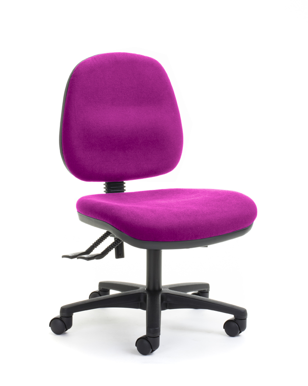 CS Alpha 2 Lever Mid Back Task Chair - Pink