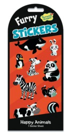 Peaceable Kingdom: Furry Stickers - Happy Animals image