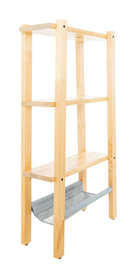 Solid Birch Wood Shelving Storage Unit