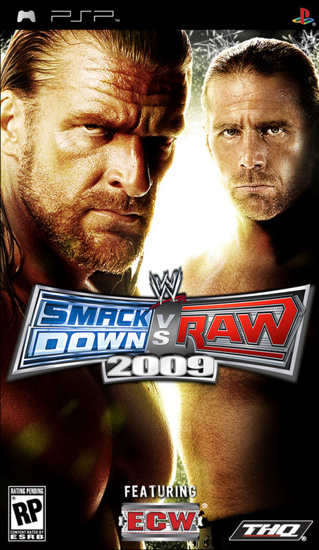 Playstation Portable 3000 + WWE SmackDown! vs. RAW 2009 for PSP