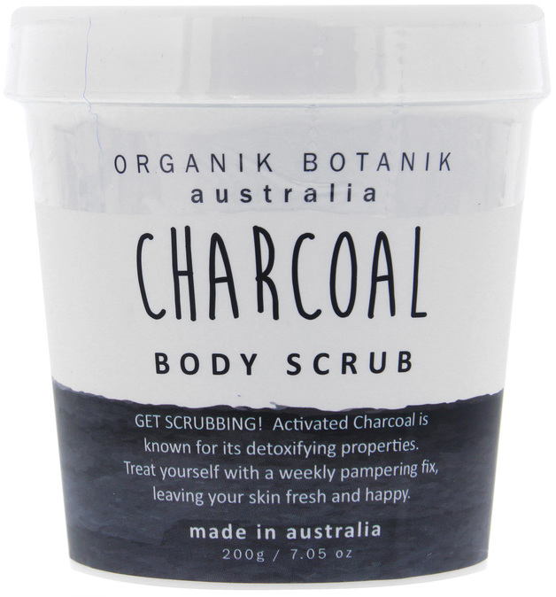 Organik Botanik Body Scrub Tub - Charcoal (200gm)