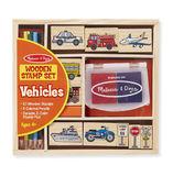 Melissa & Doug: Vehicle Wooden Stamp Set