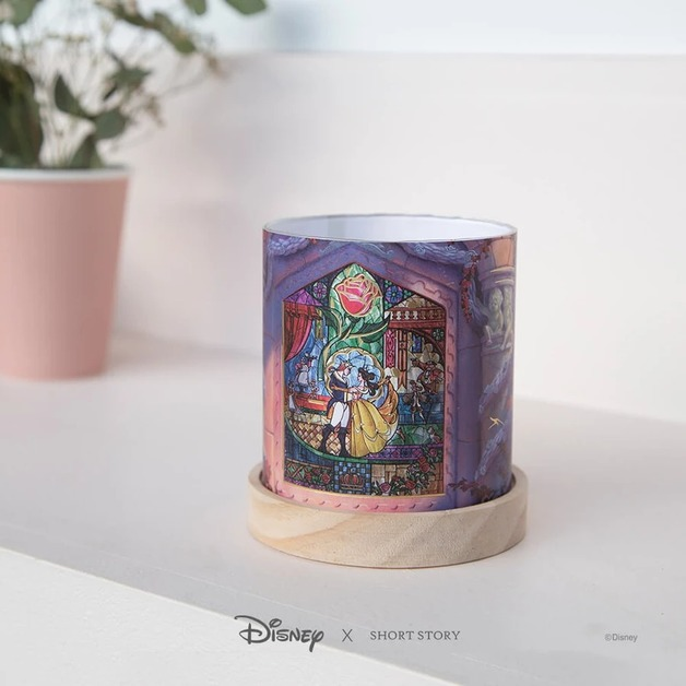 Disney: Mini Glass Lantern - Beauty & the Beast