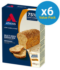 Atkins Low Carb Breadmix 400g (6 Box Value Pack) image