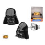 Star Wars Darth Vader 3-D Black Stud Earrings
