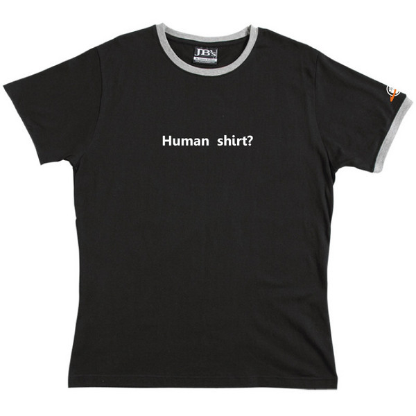 Human Shirt - Ringer Tee (Black) for