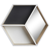 Transomnia: Hexagon Display Shelves with Mirror