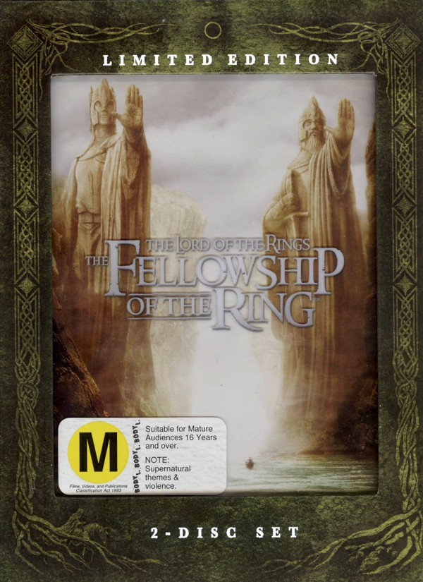 Lord Of The Rings, The - The Fellowship Of The Ring: Limited Edition (2 Disc Set) on DVD image