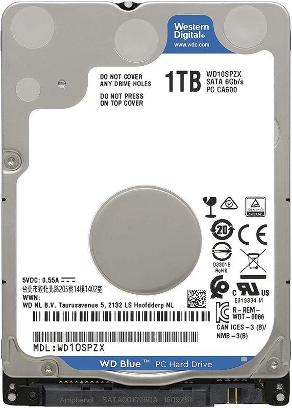 """1TB WD Blue 2.5"""" 5400RPM SATA HDD"""