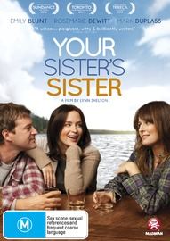 Your Sister's Sister on DVD