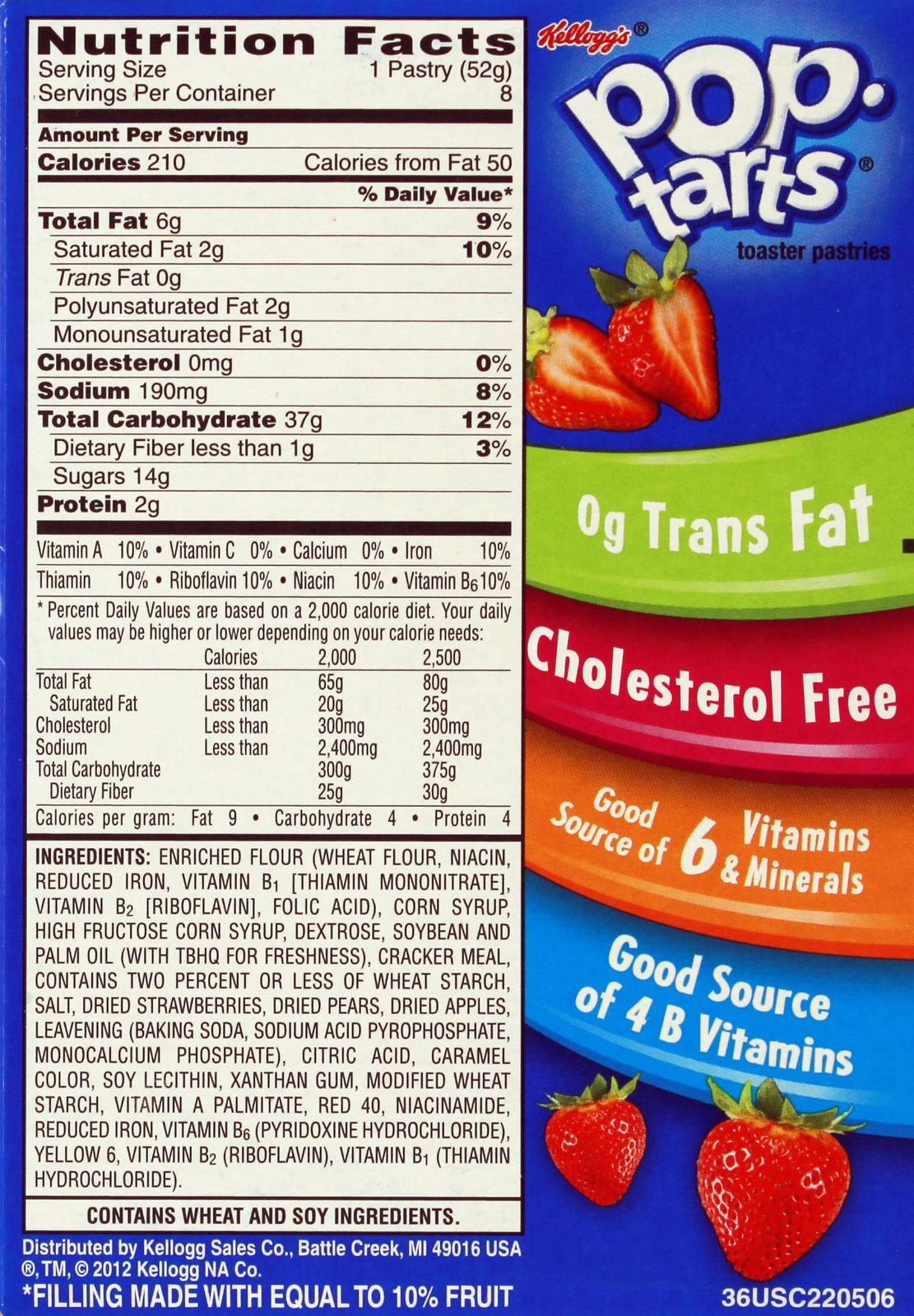 Kellogg's Pop Tarts Unfrosted Strawberry image