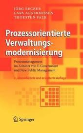 Prozessorientierte Verwaltungsmodernisierung by Jorg Becker