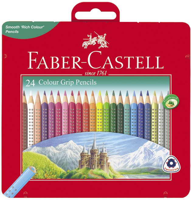 Faber-Castell: Grip Colour (Tin of 12)