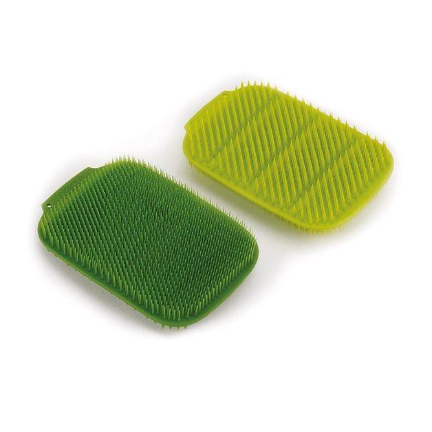 Joseph Joseph: Cleantech Washing-Up Scrubber (2-Pack) - Green/Dark Green