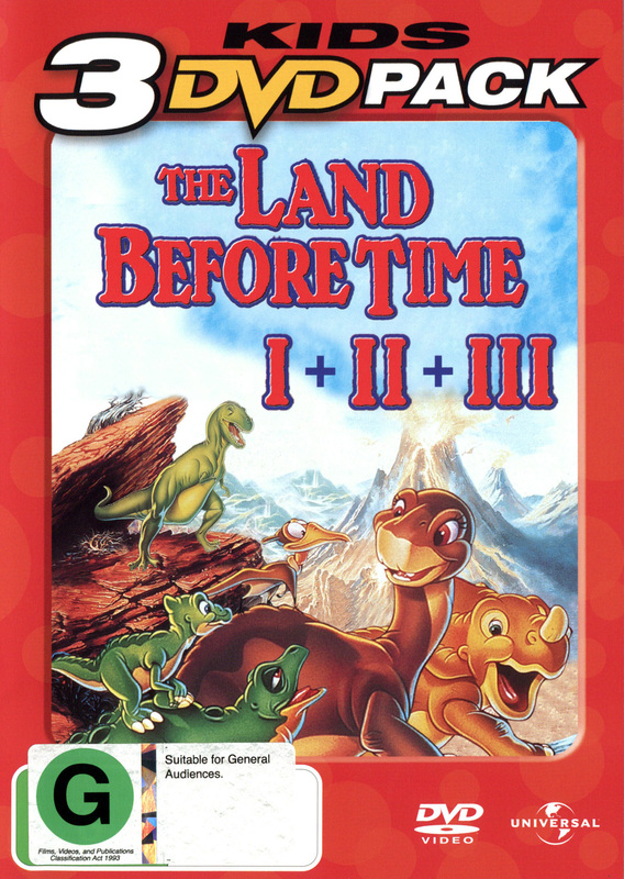 The Land Before Time I + II + III - Kids 3 DVD Pack (3 Disc Set) on DVD