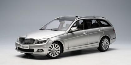 AUTOart 1/18 Mercedes Benz C Class T-Model S204 Elegance (Silver) Diecast Model