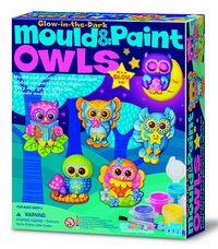 4M: Craft Mould n Paint - Glow Owls image