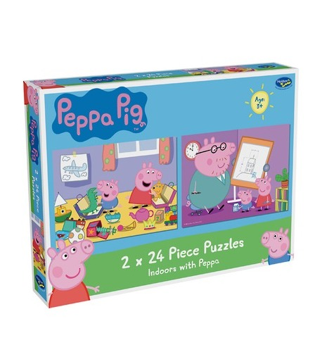 Peppa Pig: 2 x 24 Piece Puzzles - Indoors with Peppa image