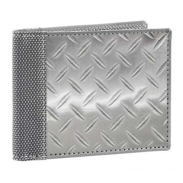 Stewart/Stand Stainless Steel Bill Fold Wallet - (Diamond Plate) Silver