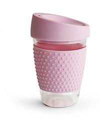 Glass Travel Mug - Pink