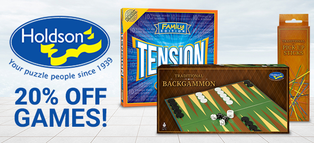 20% off Holdson Games!
