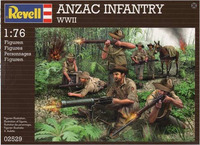 Revell - 1:76 Anzac Infantry WWII Model Figures