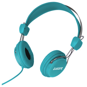 Kids Friendly Stereo Headphones (Blue) image