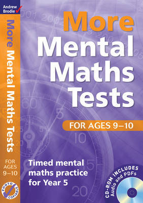 More Mental Maths Tests for Ages 9-10: Timed Mental Maths Practice for Year 5 by Andrew Brodie image