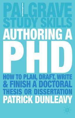 Authoring a PhD by Patrick Dunleavy image