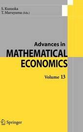 Advances in Mathematical Economics Volume 13 image