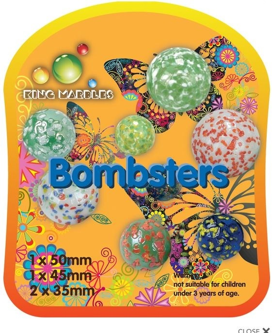 King Marbles - Bombsters (Set of 4)