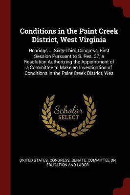 Conditions in the Paint Creek District, West Virginia