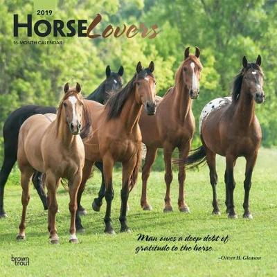 Horse Lovers 2019 Square Wall Calendar by Inc Browntrout Publishers