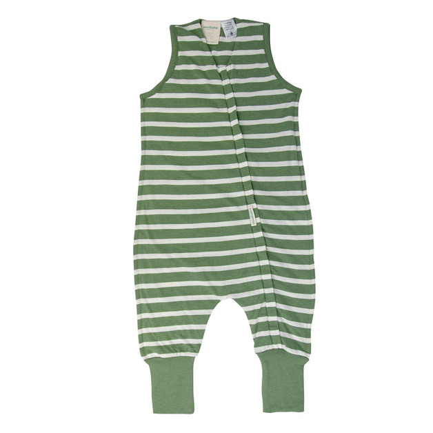 Woolbabe: 3-Seasons Sleeping Suit Fern Stripe - 2 year