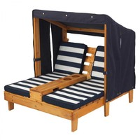 KidKraft - Double Chaise Lounge - Navy image