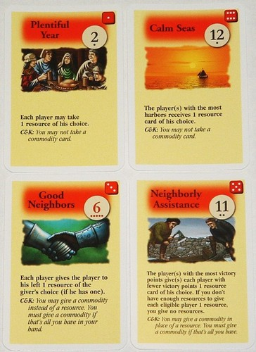 Settlers of Catan expansion : Catan Event Cards image