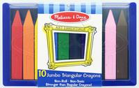Jumbo Triangular Crayons - Melissa & Doug image