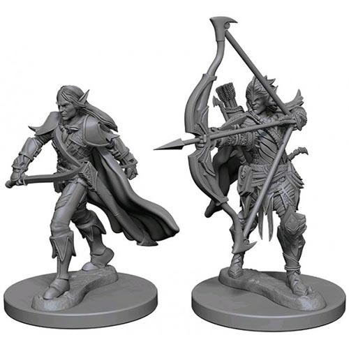 Pathfinder Deep Cuts: Unpainted Miniature Figures - Elf Male Fighter image