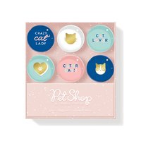 Graphic Cat Lover Magnet Set 6