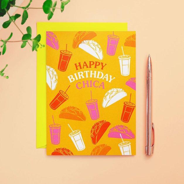 90s Kid: Happy Birthday Chica Card