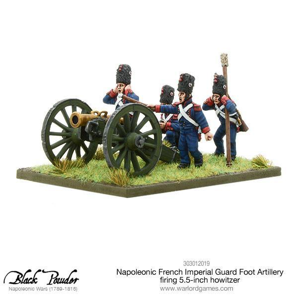 Napoleonic French Imperial Guard Foot Artillery howitzer