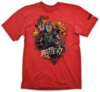 """Call of Duty: Black Ops 4 T-Shirt """"Battery Red"""", XL"""