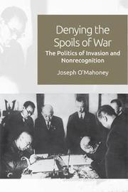 Denying the Spoils of War by Joseph O'Mahoney