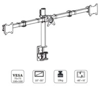 "Loctek: DLB113 Three Monitor Desk Mount (10"" - 30"") image"
