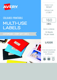 Avery L7261 Multi-Use Labels - Storm Grey (10 Sheets/160 Labels)